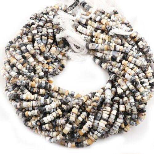Dendritic Opal Heishi Tyre Gemstone Jewelry Making Beads Strand 5-6mm 13.4 Inch