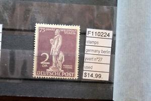 STAMPS-GERMANY-BERLIN-YVERT-N-27-USED-F110224