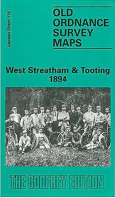 Old Ordnance Survey Detailed Map West Streatham /& Tootling London 1913 Sheet 135