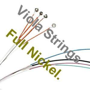 VIOLA STRINGS, FULL NICKEL, QUALITY FULL SET, GREAT TONE, UK SELLER