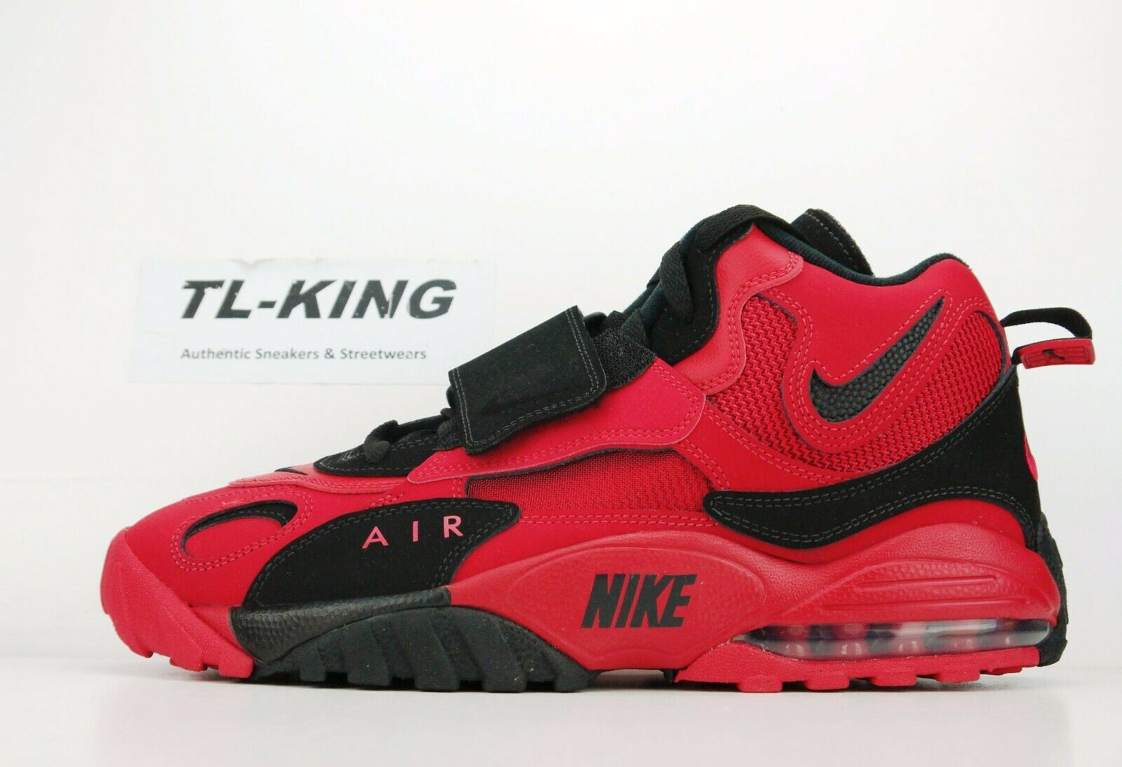 Nike Air Max Speed Turf Deion Sanders 49ers University Red Black AV7895 600 BN