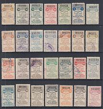Argentina, Santa Fé, Forbin 254A-283A used 1908 General Tax Fiscals, 28 Talon