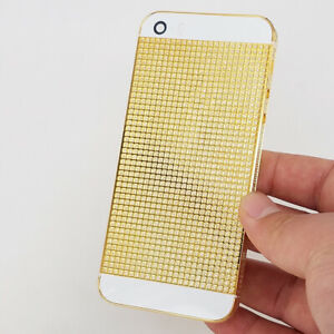 detailed look 35f0d f7d0f Details about Limited 24K Gold Plated Crystal Housing For iPhone 5 5S SE  Diamond Battery Cover