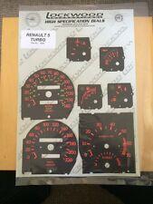 Renault 5 GT Turbo OE original dial Covers Lockwood