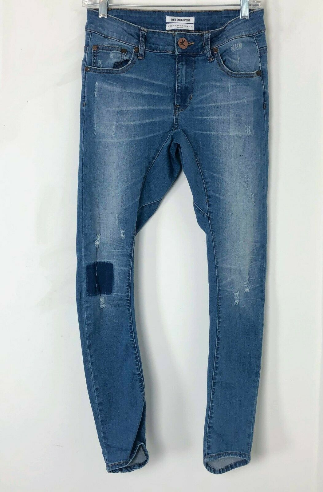 23 One Teaspoon Desperados Americano Low Skinny Bowed Fitted Curved Jean Patch