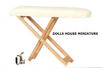 Fixed Ironing Board With Iron, Doll House Miniature, 1.12th Scale, Laundry