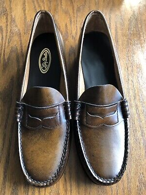 Women's Brown Dexter Penny Loafers Hand sewn Size 9 AA ...