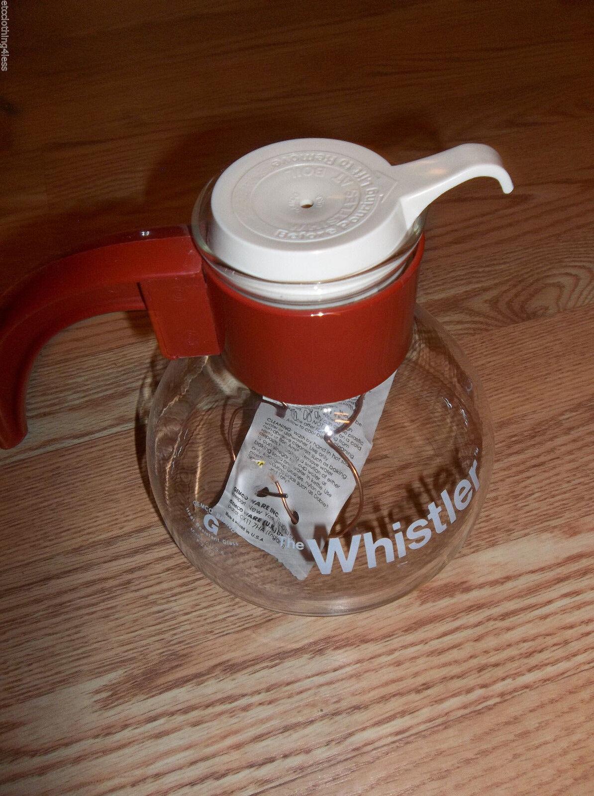 Gemco The Whistler Verre Café Thé Pot Café avec Sous-plat