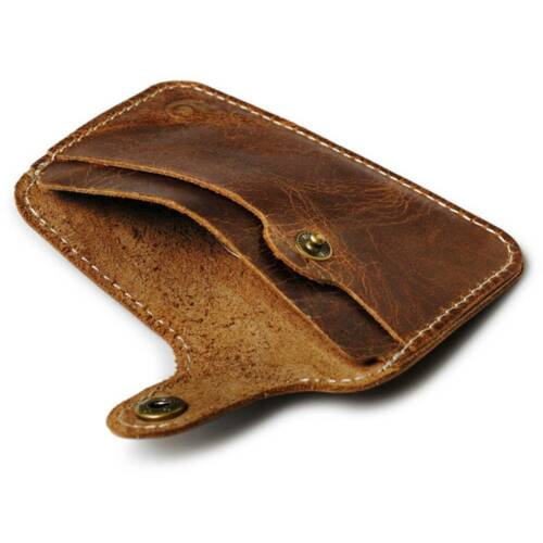Fashion Simple First Layer Leather ID Card Holder Cash Clip Money Wallet Package