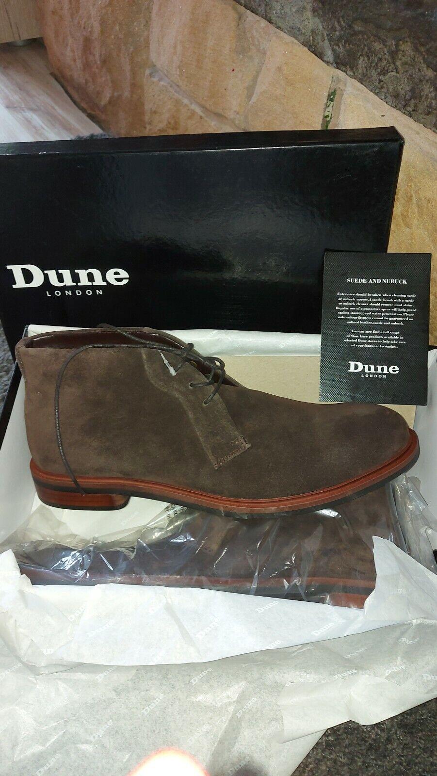 BN BOXED DUNE Dark Brown Suede Chukka Boots SIZE 11