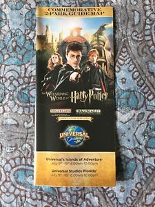 Details about Universal Studios Harry Potter Diagon Alley OPENING 7/9  COMMEMORATIVE Park Map