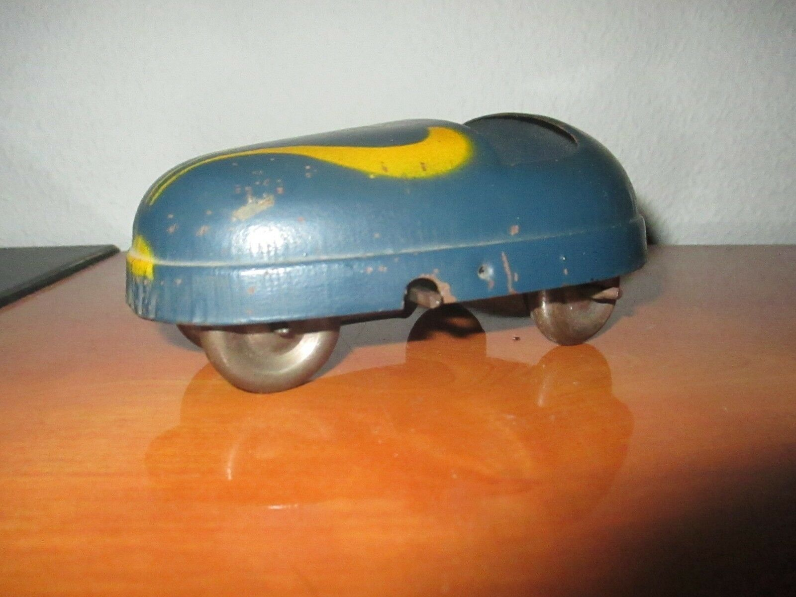 JOUET ANCIEN TOLE AUTO TAMPONNEUSE JRD OLD TOY FRENCH ANTIC