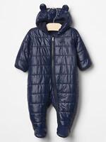Baby Gap Navy Blue Primaloft Lightweight Snowsuit Bunting Size 3-6 Months