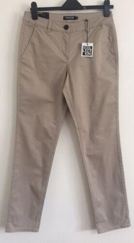 EX Debenhams Natural Tapered Chino Denim Regular Straight Leg Jeans Size 8-20