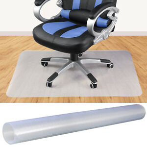 pvc home office chair floor mat for wood tile 35 x 47 ebay. Black Bedroom Furniture Sets. Home Design Ideas