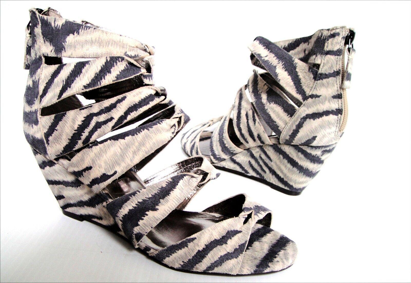 NEU STEVEN BY STEVE MADDEN GABBEY  zebra  Sandale Schuhes Damens's sz 8
