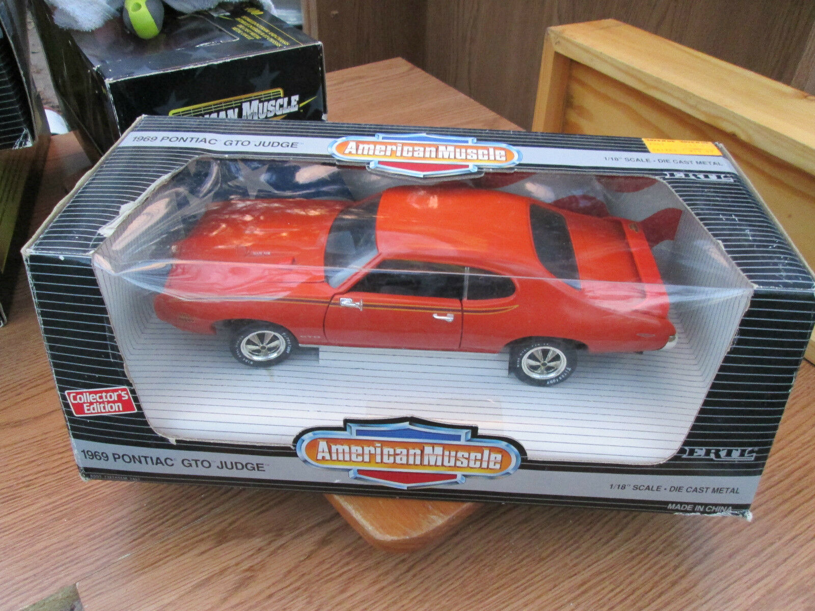 GTO JUDGE 1969 PONTIAC 1 18 American Muscle orange COLLECTORS EDITION