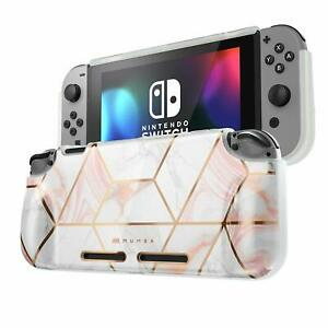 Mumba for Nintendo Switch Console Protective Case Grip Soft TPU Shockproof Cover