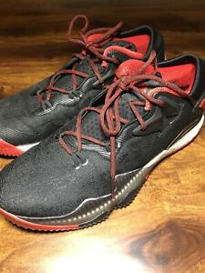 Adidas-Crazylight-BOOST-Low-2016-Size-12-Basketball-Shoes-Black-Red