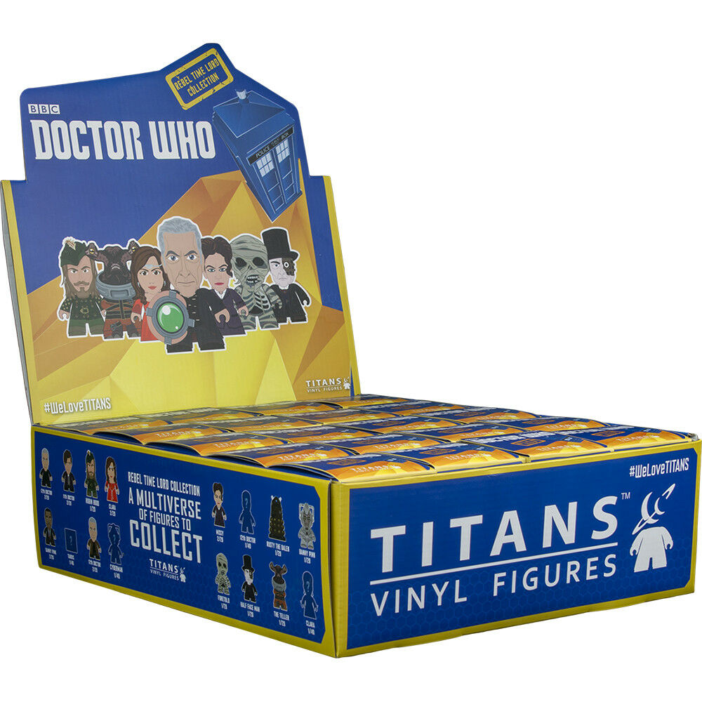 Doctor Who - Rebel Time Lord Titans Mini Figures Blind Box Display (20 Units)