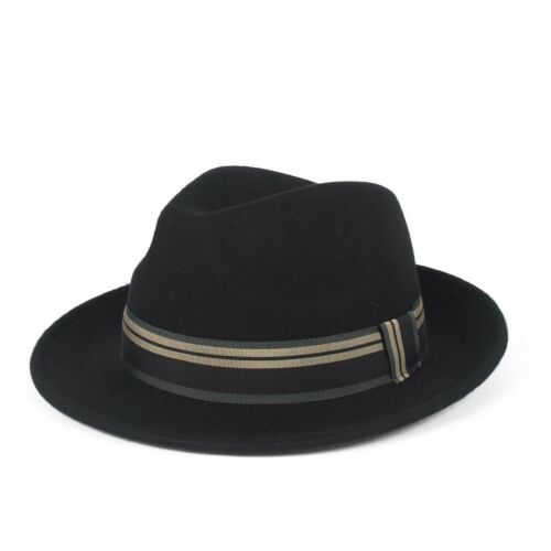 Stylish 100/% Wool Fedora Hat Waterproof /& Crushable Handmade in Italy