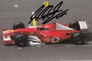 MICHAEL SCHUMACHER --- FERRARI-CARD - original signiert - A9#16