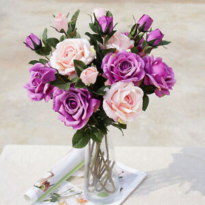 Am-1Pc-Artificial-Flower-Rose-Wedding-Arrangement-Party-Garden-DIY-Decor-Effici