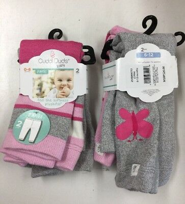Cuddl Duds Baby Pants 2 Pair -Blue  NWT   V3 6-12 Mos. Sizes 0-6