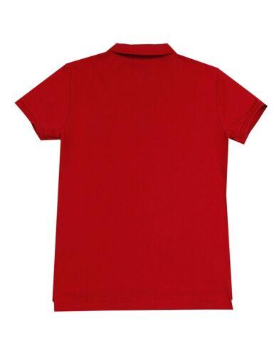 Ralph di in aderente cavallino rosso grande colore da Camicia maglia polo con donna Lauren v6nxqwazH5