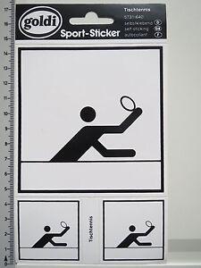 Aufkleber Sticker Tischtennis Sport Sticker Goldi Table Tennis