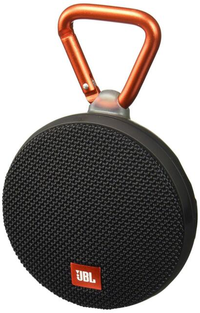 JBL Clip 2 Portable Bluetooth Speaker - Waterproof - Black JBLCLIP2BLKAM