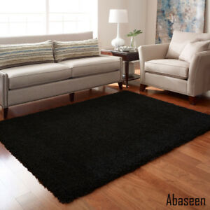 Image Is Loading Abaseen Large Small Soft New Black Carpet