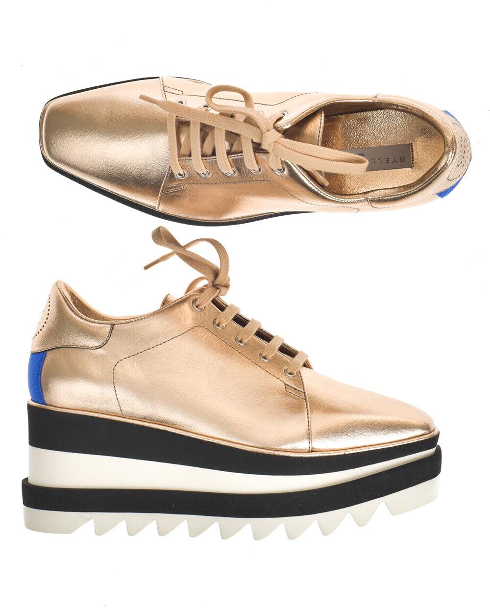 Stella McCartney Zapatos Tenis Elyse Elyse Elyse Hecho en Italia Mujer oro 478958W1CW3 8395  marca en liquidación de venta
