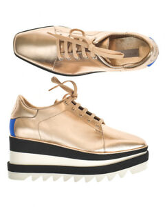 Details about Stella McCartney Shoes Sneaker ELYSE MADE IN ITALY Woman Gold 478958W1CW3 8395