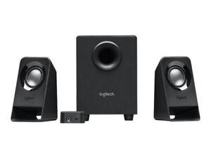 Logitech-Z-213-2-1-Lautsprecher-System-Speaker-Boxen-schwarz