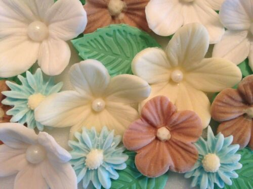 Spring Flower Bouquet Cup Cake Decorations,Easter,Toppers Edible Sugar Paste