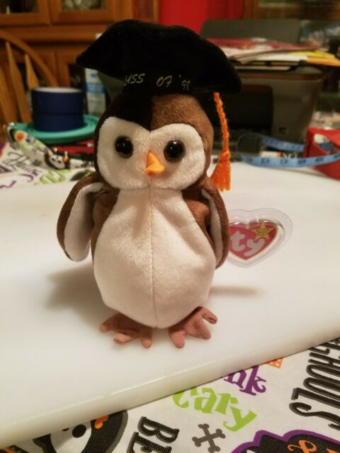 30978ff8041 Ty Beanie Baby ~ WISE the Graduation Owl ~ MINT with MINT TAGS ~ RETIRED