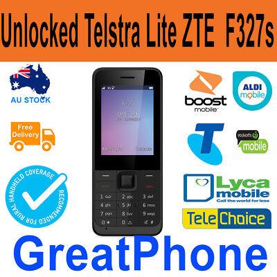 Unlocked Telstra Lite F327s Mobile phone Telstra * Boost * Lyca *Telchoice*Aldi.  eBay