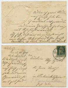 52551-Praegekarte-ohne-Bild-gelaufen-Illesheim-30-11-1911