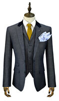 Mens Designer Cavani Tweed Blazer Waistcoat Trousers Sold Separate 3 Piece Suit