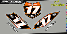 KTM SX65 2009 -15  Pre Printed Number plate Backgrounds Accel SERIES