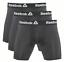 REEBOK-MEN-UNDERWEAR-3-PACK-BOXER-BRIEF-STRETCH-PERFORMANCE-TRAINING-183-BLACK miniature 1