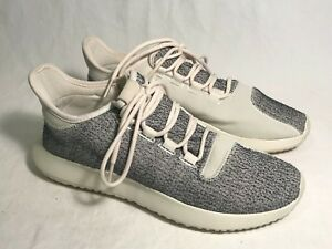 hot sale online caa8f 241d4 Details about Adidas Tubular Shadow Gray Knit, Off White Textile Athletic  Shoes Women 8.5