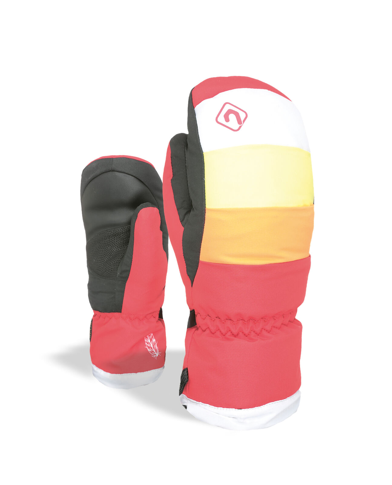 Level Handschuh Rainbow Down JR  Mitt red wasserdicht atmungsaktiv  free shipping!