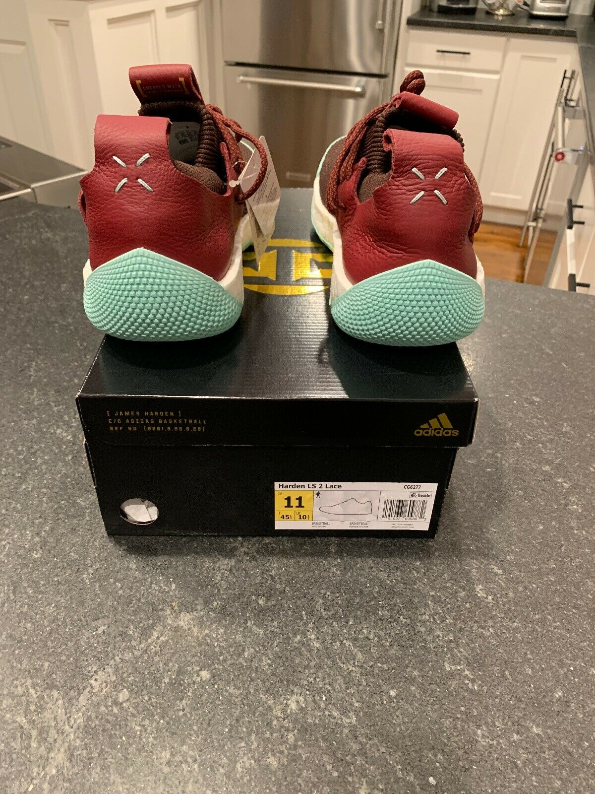 8ac11aaba2c ... Size 11 11 11 NEW ADIDAS HARDEN LS 2 LACE - CG6277 MEN S Red Maroon  Clear ...