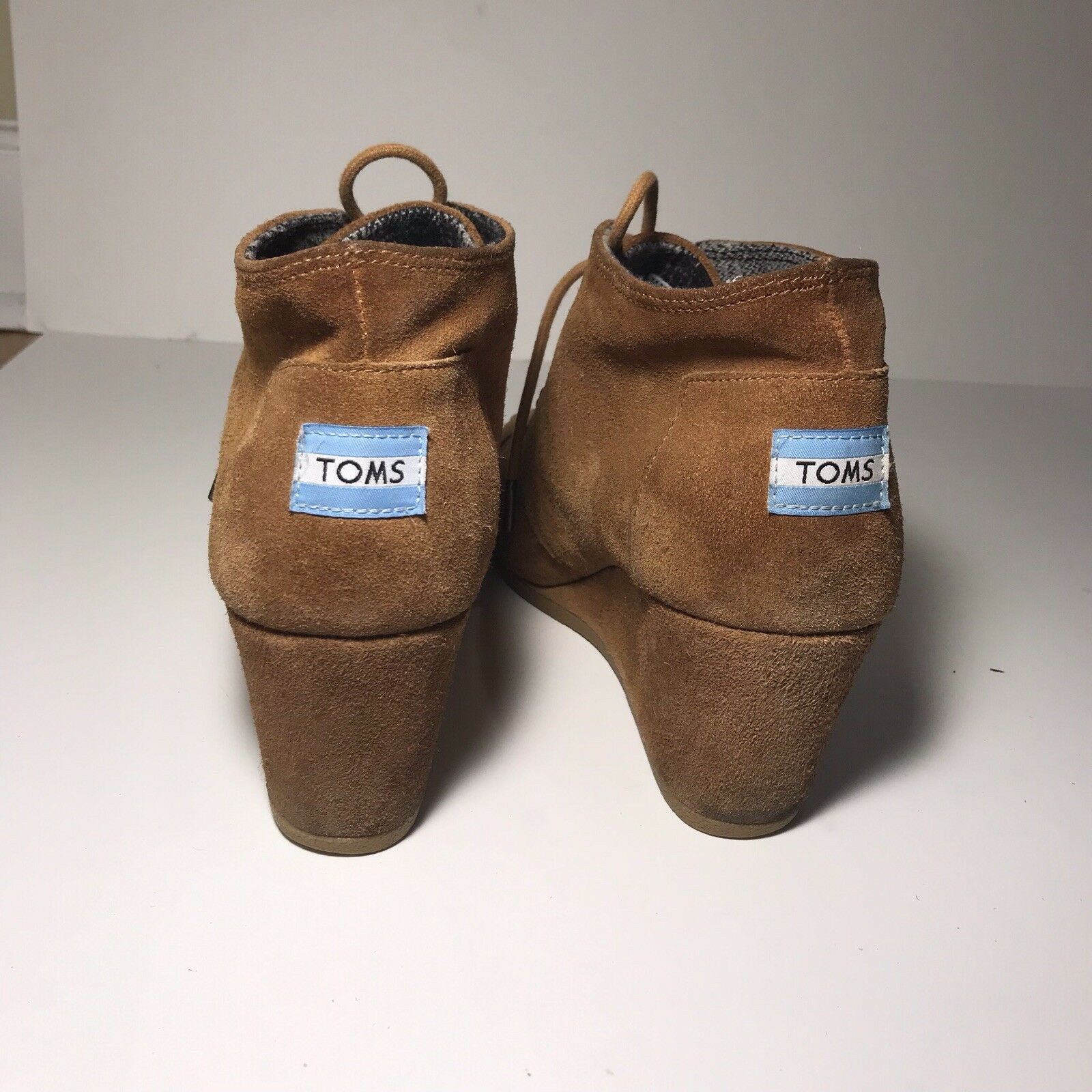 a4a1251493a TOMS Women s Desert Wedge Bootie Chestnut Suede for sale online