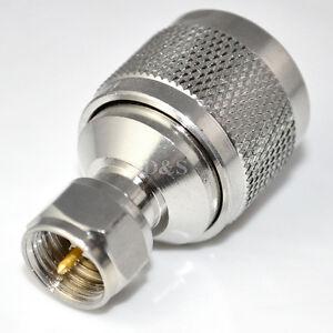 n typ stecker auf f stecker gerade adapter hf koaxial adapter steckverbinder neu ebay. Black Bedroom Furniture Sets. Home Design Ideas