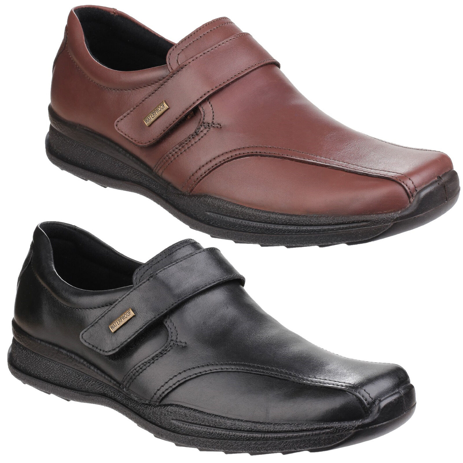 Cotswold birdlip Etanche Etanche Etanche homme habillé cuir fermeture scratch chaussures uk6-12 f7893b