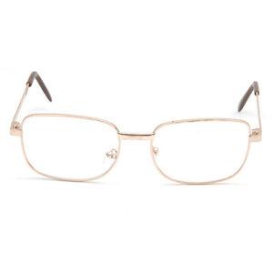 Fashion Men's Reading Glasses Clear Lens Full Rimmed Gold ...