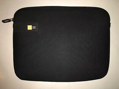 "Case Logic 12/""x9/"" Black Laptop Tablet Sleeve Case Bag Computer Cover Zipper #b62"